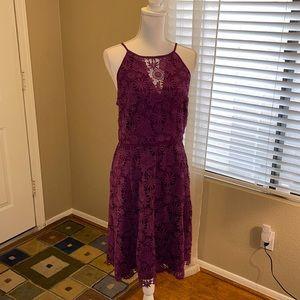 🌻 WHBM Sleeveless Lace Dress Purple